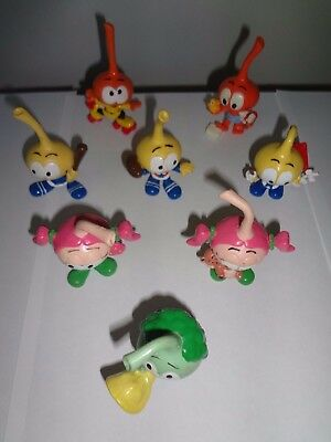 Schleich Wallace Berrie Snorks Figures Vintage Pvc 5 Piece Lot Green Purple +