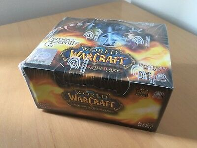 WOW TCG Heroes of Azeroth sealed 24 pack booster box