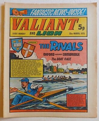 VALIANT and LION Comic - 22nd March 1975