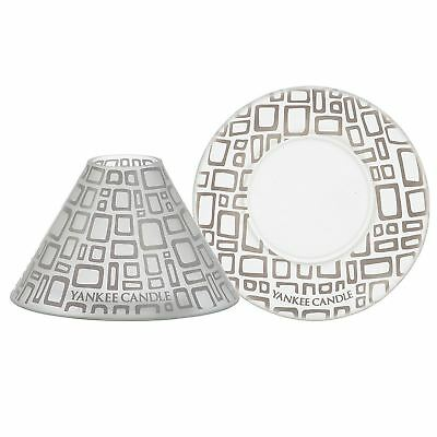 Yankee Shade & Tray Set Patterned Candle Ideal for Living Rooms and Homes