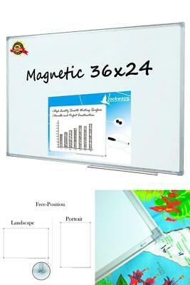 Magnetic Dry Erase Whiteboard 36 x 24in School Office Study Area Reminder Board