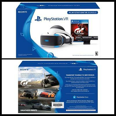 New PlayStation VR Headset PS4 Camera Fran Turismo GT Sport Video Gaming Bundle