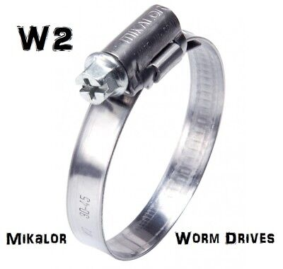 W2 Genuine Mikalor | Hose Clip  Clamp | Worm Drive Hose Clips | Stainless Steel