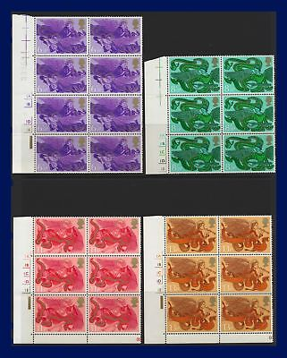 1975 SG993-996 6½-13p Christmas Set (4) Cylinder Blocks MNH see description afjg