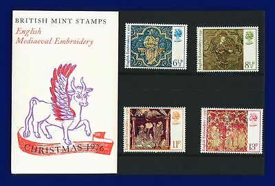 1976 SG1018-1021 6½-13p Christmas Set (4) Pres. Pack MNH Cat £2.75 alwl