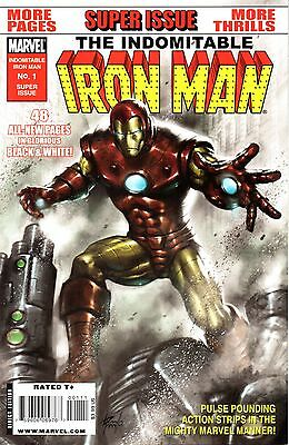 The Indomitable Iron Man Comic 1 Marvel 2010 4 Features 48 B&W Pages