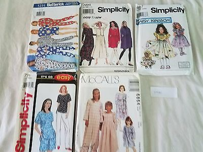 Sewing Patterns Mixed Lot of 5 Simplicity McCall's Butterick P020 Free Ship