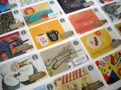 Starbucks Card Lot Limited Edition Old Logo Holiday Various New 25 Gift Cards