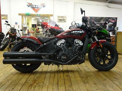 IN STOCK NOW! Indian Scout Bobber in Indian Red.