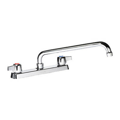 "Krowne Metal 13-812L Commercial Deck Mount Faucet 12"" Swing Spout"