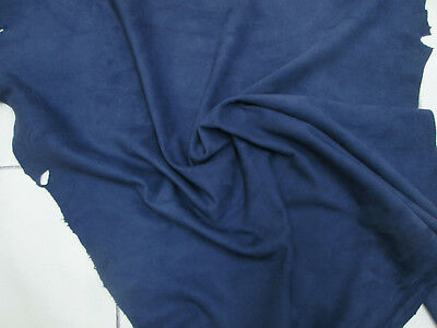 Silky soft sheep suede with velvet nap Airforce blue BARKERS HIDE /& LEATHER H367
