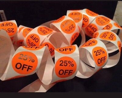 Sale stickers round fluro 25% off 50 Pack Shop Accessory Labels Aus Seller
