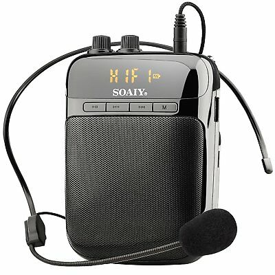 SOAIY S318 2000mAh Rechargeable Lightweight Voice Amplifier with LED Display,