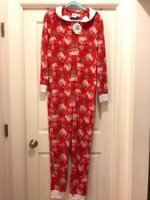 "NWT Ladies/Men/Adult ""Elf On The Shelf"" Pajama / Hoodie / Zip Front / Size L"