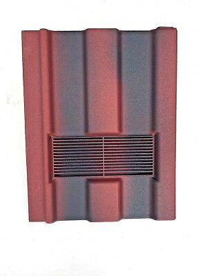 Roof Tile Vent To Fit Marley Ludlow Major | Old English Red | Flexi Pipe Adaptor