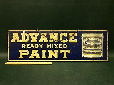 Rare Advance Ready Mix Paint Store Display Metal Sign ~Appletree ST Philadelphia