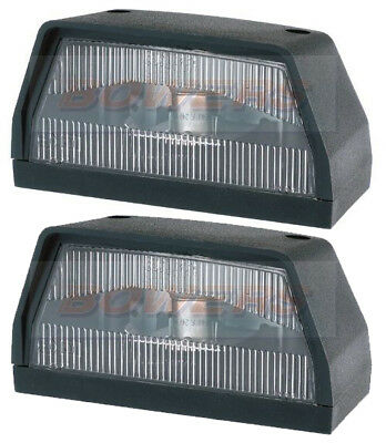 Pair Of Britax 867 Rear Number Plate Lights Lamps Ifor Williams Trailer Caravan