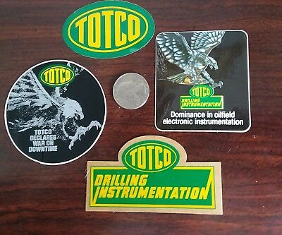 Totco Oilfield Oil Gas Hard Hat Stickers