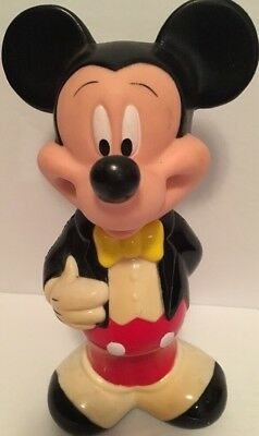 "Vintage 1990's Mickey Mouse Bubble Bath Bottle Disney 9"" RARE Collectible"