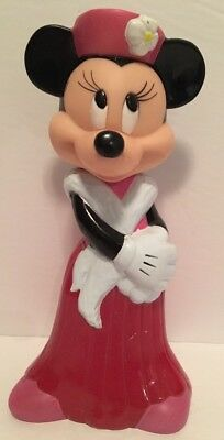 "Vintage 1990's Minnie Mouse Bubble Bath Bottle Disney 8"" RARE Collectible"