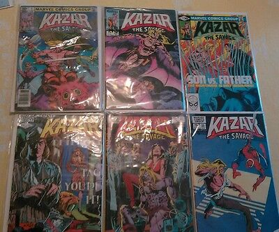 kazar ka-zar the savage marvel comic escape from new york + lot of 11 mint