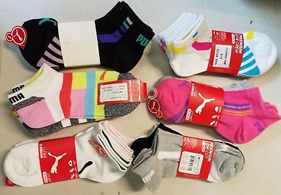 Womens Puma Socks - Size 9-11 !!! Assorted Colors & Styles!! 3 Pairs/bundle