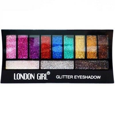 London Girl Glitter Eye Shadow Palette Set Pink Purple Red Silver Gold Xmas Gift