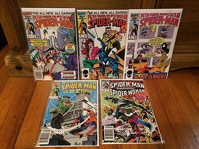 Lot of 5 Spectacular Spider-Man #118 121 123 124 126  Marvel Comics 1986 VF/NM
