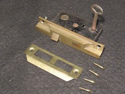 Antique Mortise Lock and Working Skeleton Key Small Size