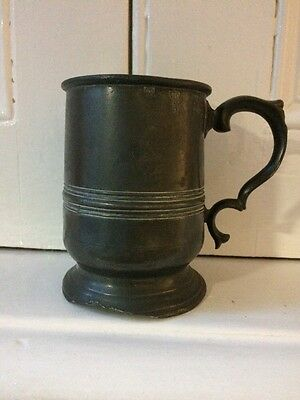 Vintage Hanson & Sons London, Pewter Tankard,half Pint Circa 1880,