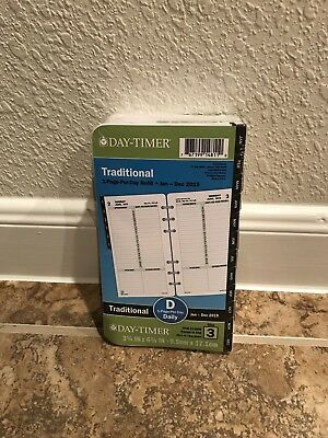 Day-Timer 2018 Traditional Black Tabbed Planner Refill 1 Page Per Day Size 3