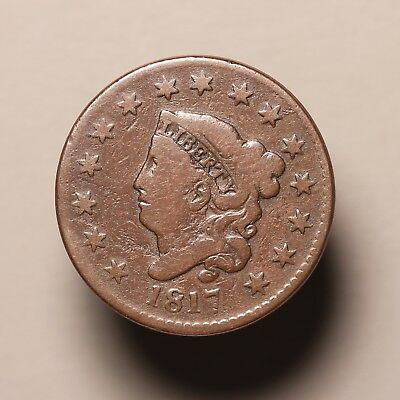 1817 US Large Cent, 15 Star Variety, N-16