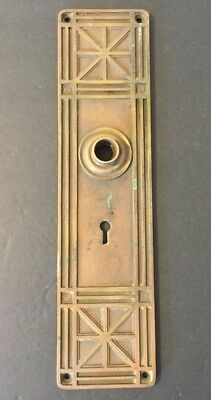 Eastlake Door Lock Handle Plate -Ornate Antique Victorian Geometric Design