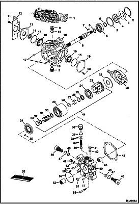 T250 relief valves and bearings and one cylinder block kit
