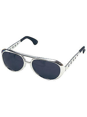 King Elvis Presley Costume Sunglasses Glasses Aviator Style Black Dark Lens