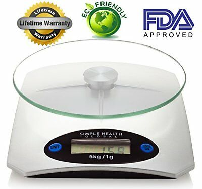 Food Scale By Simple Health Precision Digital Accuracy in Pounds Grams Ounces