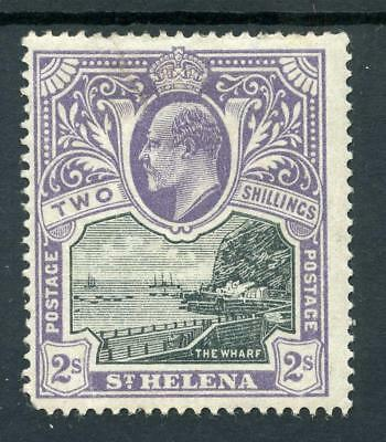St Helena 1903 2s black and violet SG60 MM