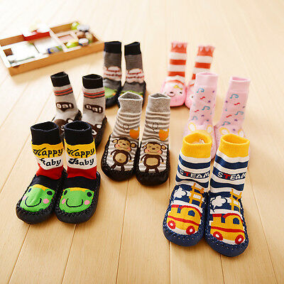 Cute Baby Warm Toddler Socks Anti-slip Sock Shoes Boots Indoor Floor Slipper New