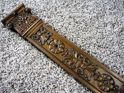 BRONZE Bank Hotel Lobby Architectural Plinth Column Brass Ornate Victorian Panel