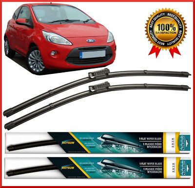 Ford Ka  Onwards Front Pair Flat Aero Wiper Blades   Set