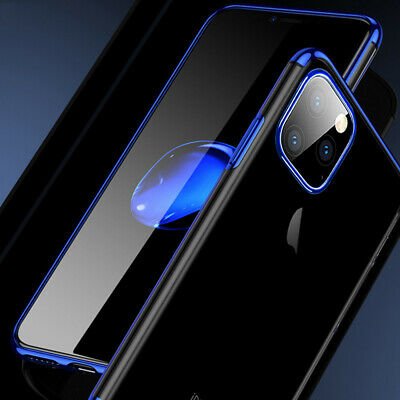For iPhone X 8 Plus 7 6s Shockproof Plating Clear Slim Hybrid Bumper Case Cover