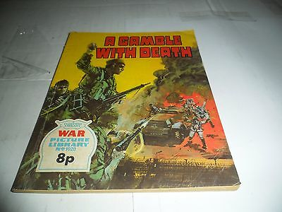 WAR PICTURE LIBRARY No  1020 dated 1975  GOOD for age,great  OLD issue.