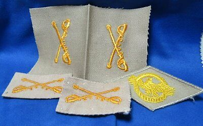 WWII Army Cavalry Officer - Ruptured Duck Honorable Discharge Patches Lot Of 5