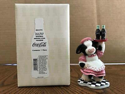 "Enesco Mary's Moo Moos Coca-Cola ""You're Worth Waiting For"" Waitress    826995"