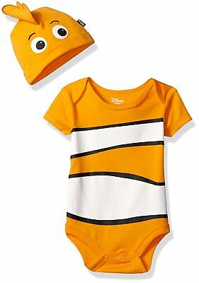 Disney Baby Boys' Finding Nemo Bodysuit with Cap Set