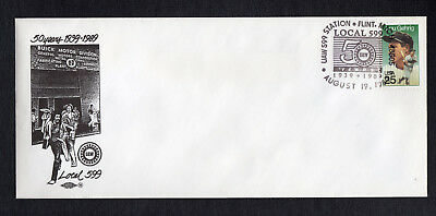 Buick UAW Local 599 75th Anniversary First Day Cover Flint MI Michigan Vintage