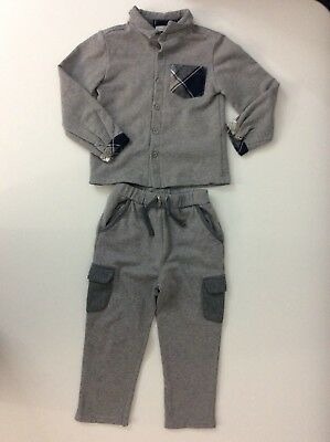 Patachou Boys Outfit, Tracksuit, Set, Size Age 3 Years, Grey, Vgc