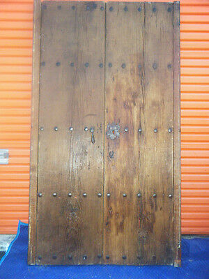 """Antique Vintage Salvage Old Spanish Farmhouse Wooden Entry Doors 42½""""W 84½""""H"""
