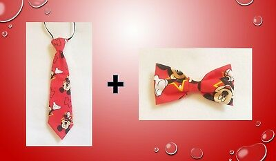 Mickey Mouse Red Tie AND Bow tie for kids toddler baby FAST SHIPPING!