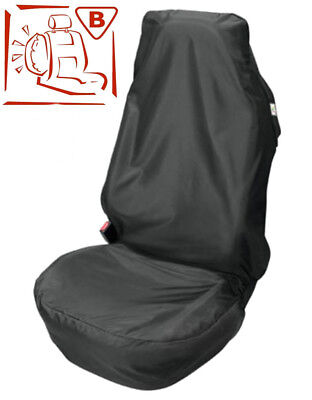 Universal Black Car Seat Cover Protector Front Easy Fit Airbag Safe Waterproof